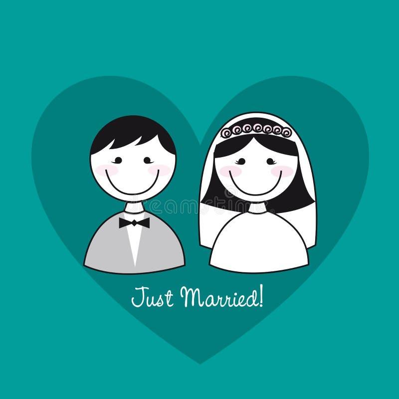 Apenas casado ilustración del vector