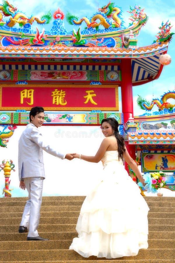 Apenas casado fotografia de stock