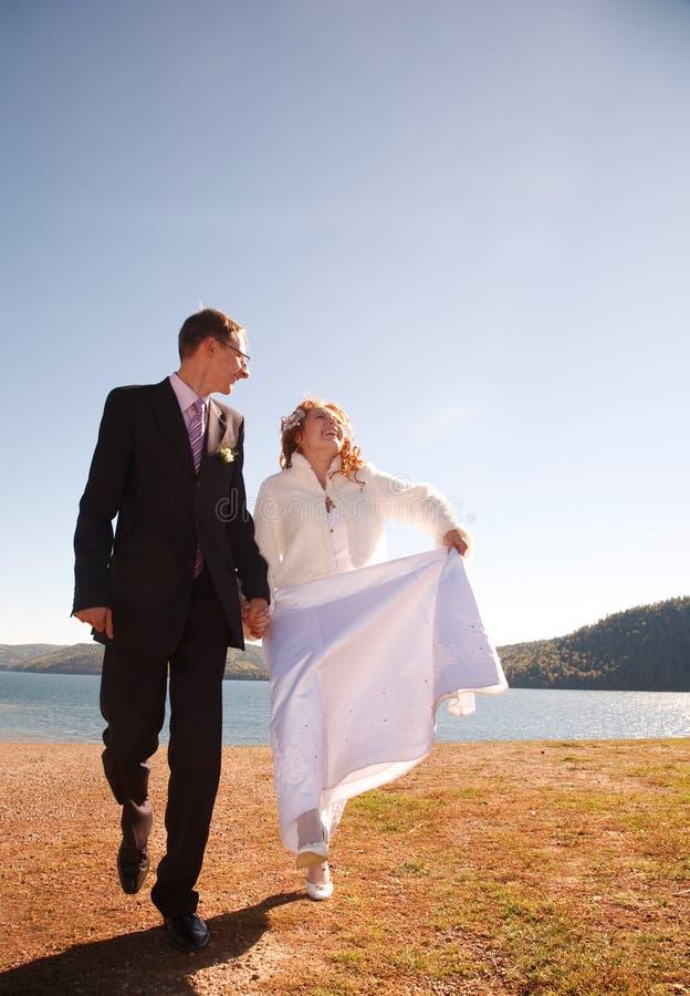 Apenas casado! foto de stock royalty free