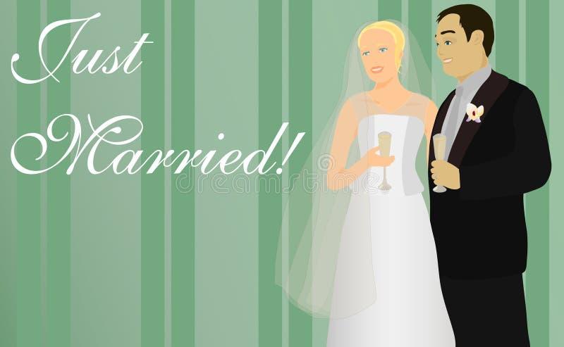 Apenas casado! ilustração royalty free