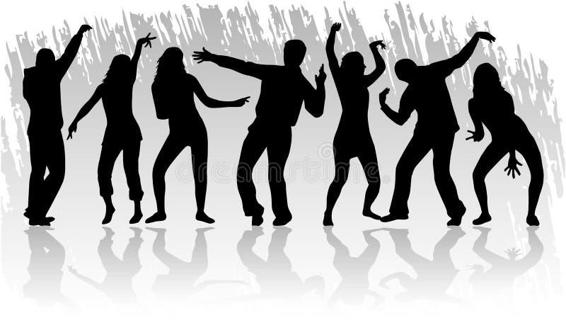 Apenas dança ilustração royalty free