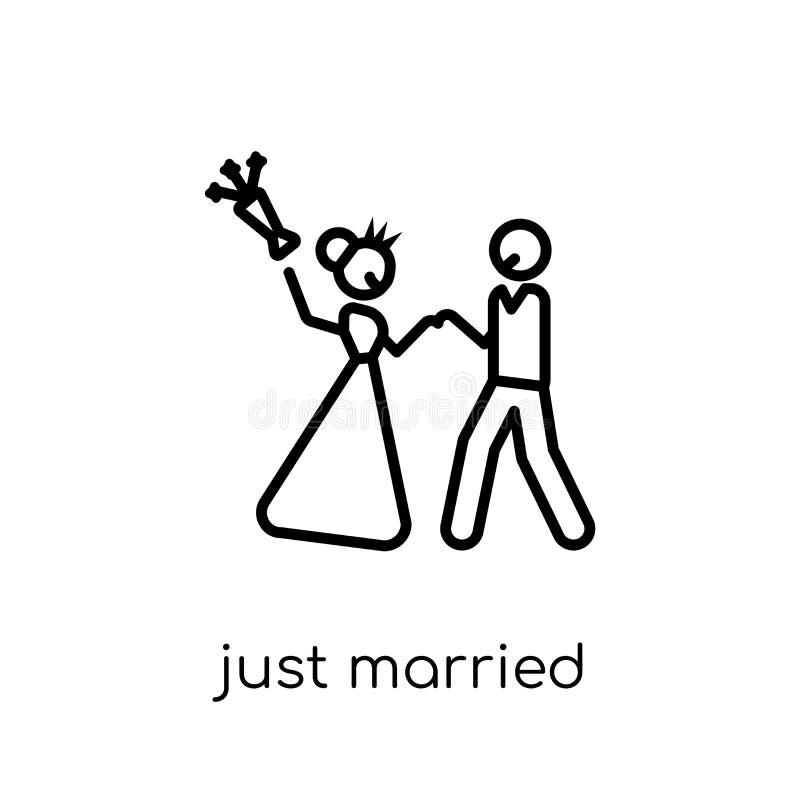 Apenas icono casado  stock de ilustración