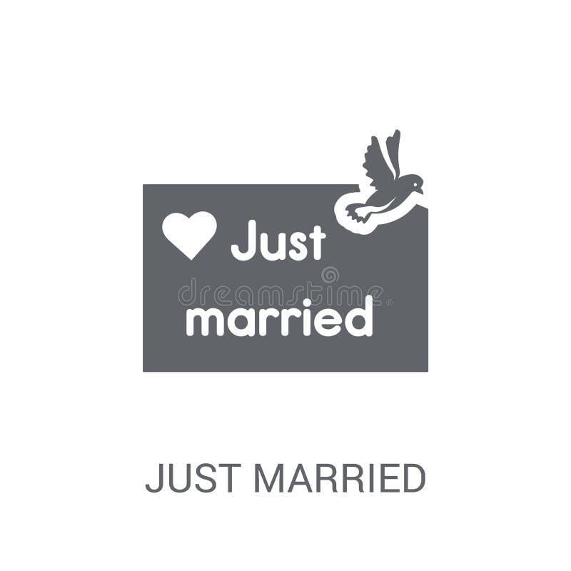 Apenas icono casado  ilustración del vector