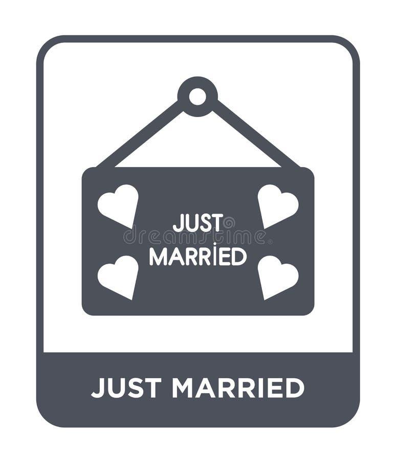 apenas icono casado en estilo de moda del diseño Casar el icono aislado en el fondo blanco apenas icono casado del vector simple  libre illustration