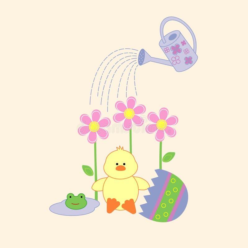 Apenas polluelo lindo tramado de Pascua stock de ilustración