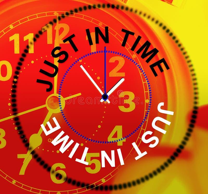 Apenas a tiempo representa en el último y el reloj ilustración del vector
