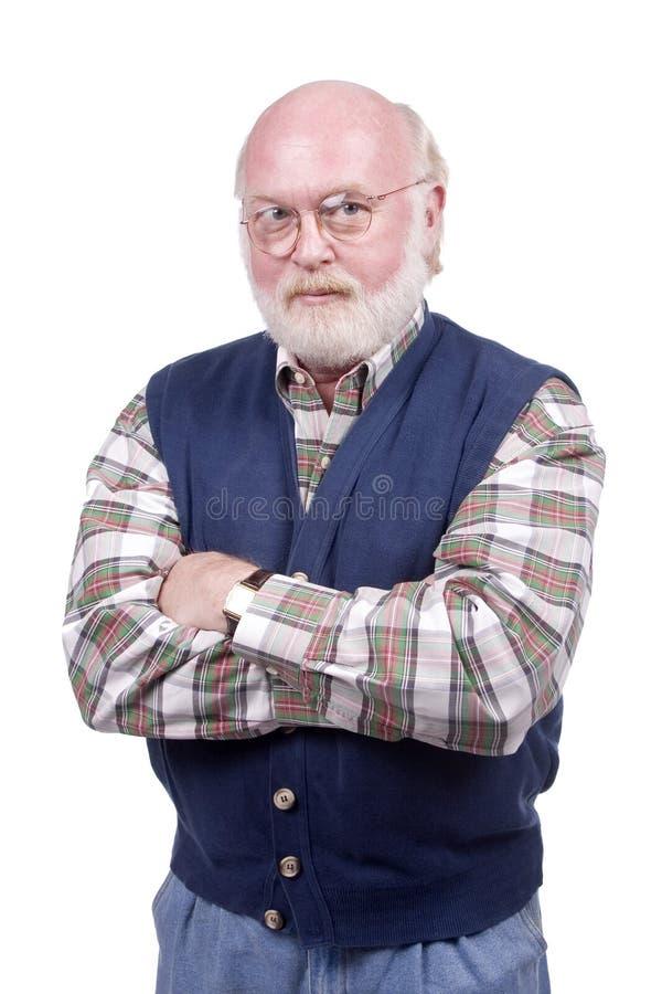Apenas um homem idoso imagens de stock