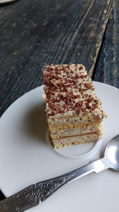 Apenas um pedaço de bolo muito doce foto de stock royalty free