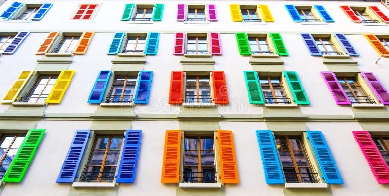 Apenas Windows coloreado foto de archivo libre de regalías