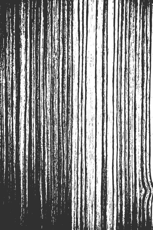 Apene la vieja textura de madera seca Textura blanco y negro y fondo de madera ilustración del vector