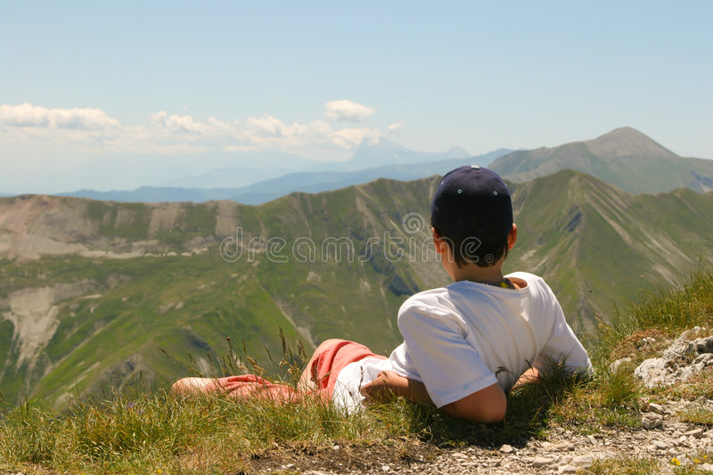 Apennine views into forever royalty free stock photos