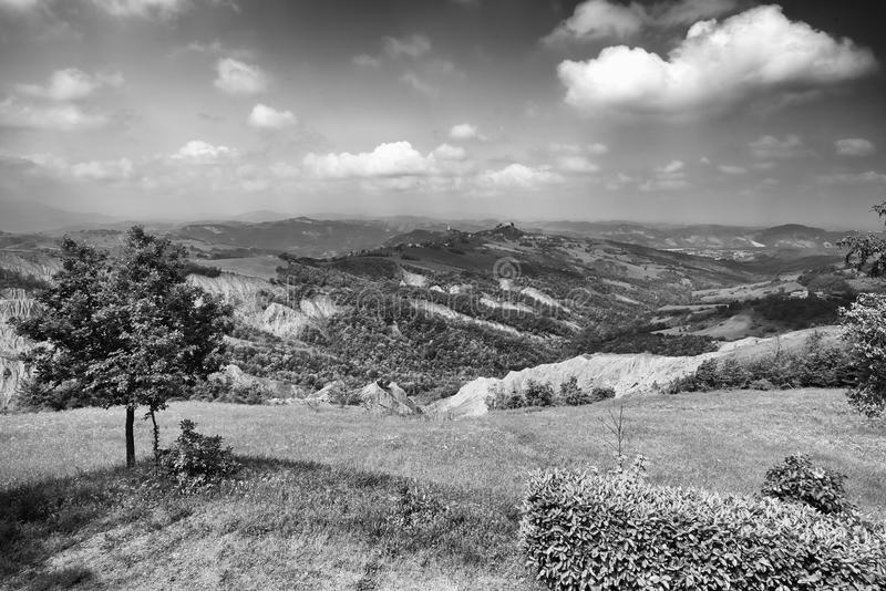 Apennines. Rossena Re, italy, a view of the mountains of Apennines royalty free stock photos