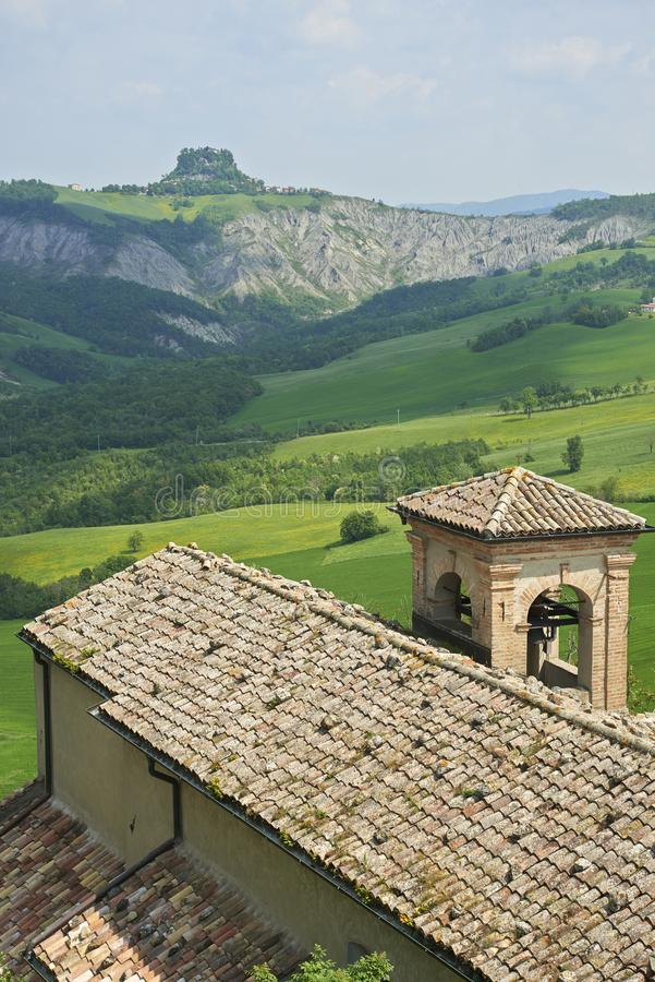 Apennines. Rossena Re, italy, a view of the mountains of Apennines stock photography