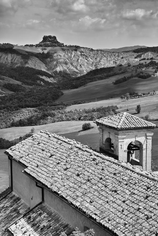 Apennines. Rossena Re, italy, a view of the mountains of Apennines stock image