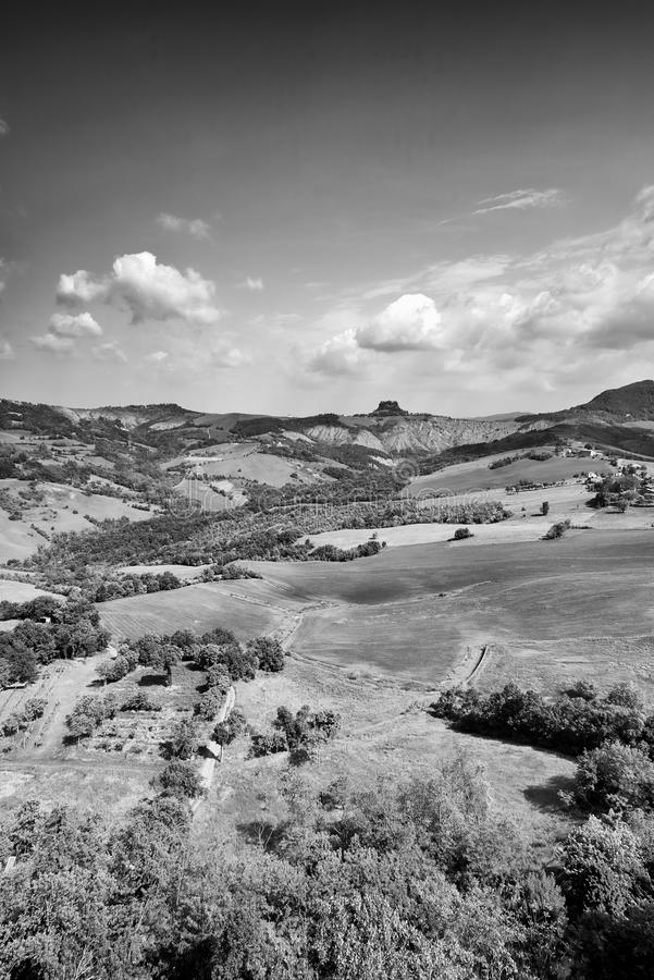 Apennines. Rossena Re, italy, a view of the mountains of Apennines royalty free stock images