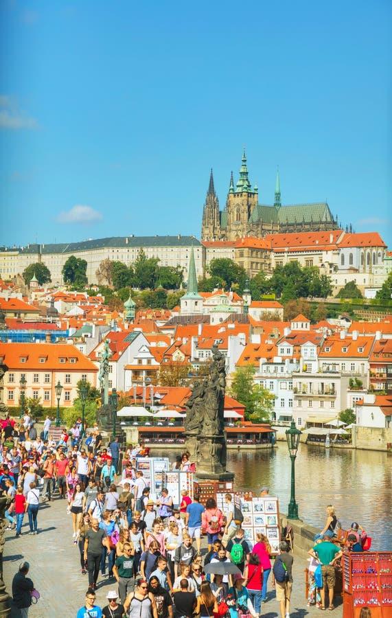 Aperçu aérien de Prague photos libres de droits
