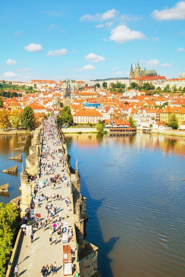 Aperçu aérien de Prague image stock