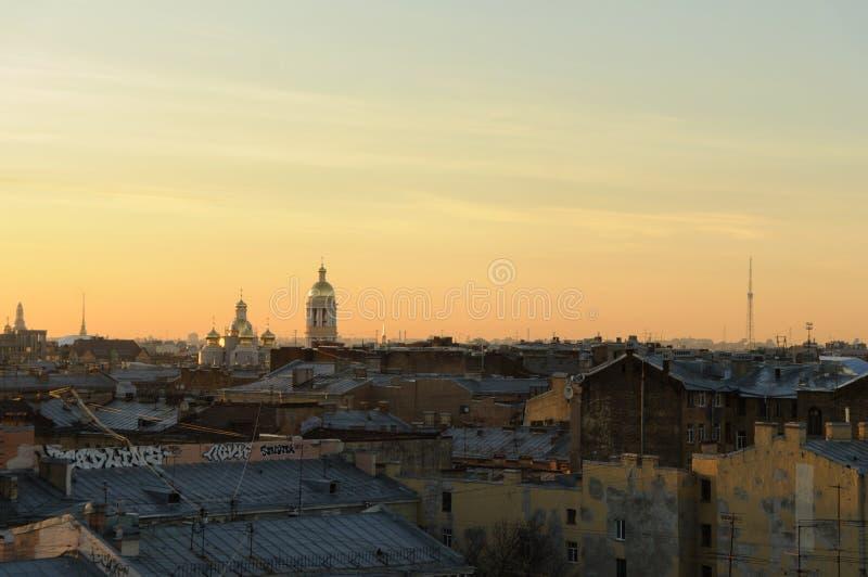 Aperçu au-dessus de St Petersburg, Russie photographie stock libre de droits