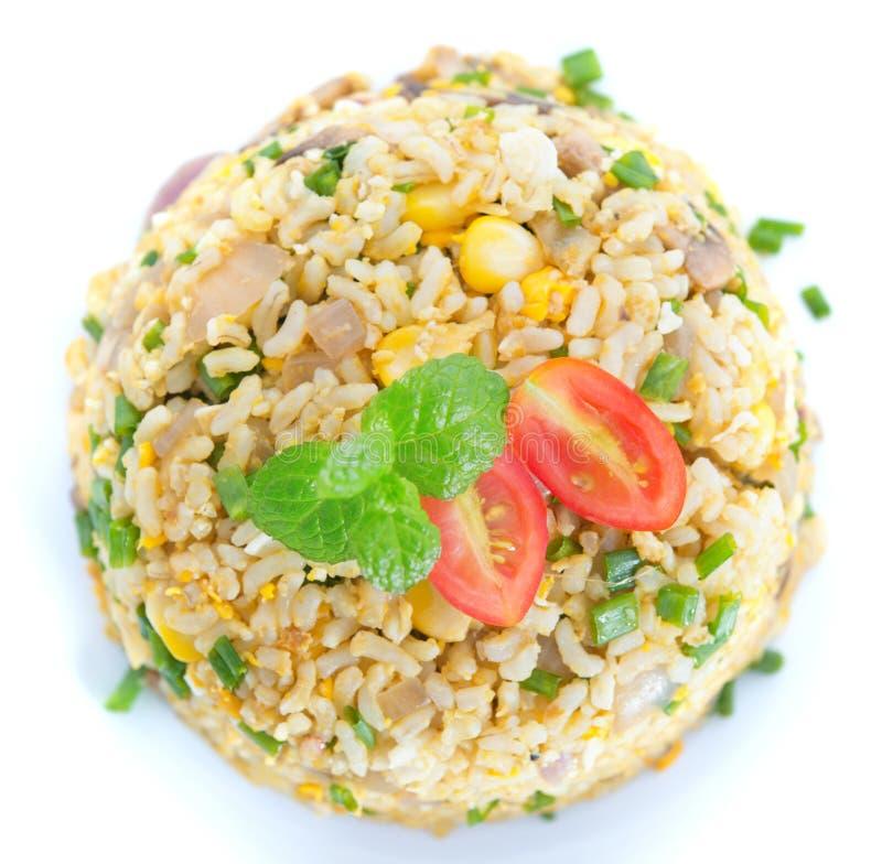 Aperçu chinois de riz frit d'oeufs photographie stock libre de droits