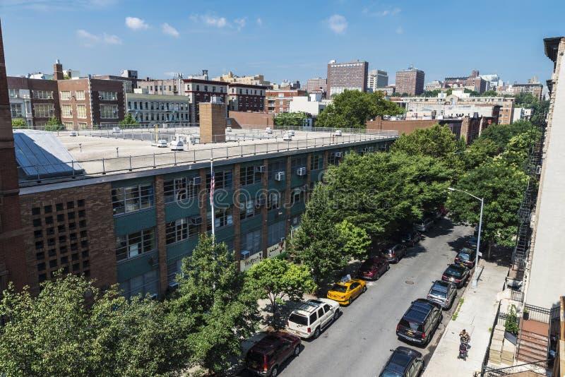 Aperçu d'une rue dans Harlem, à New York City, les Etats-Unis photographie stock