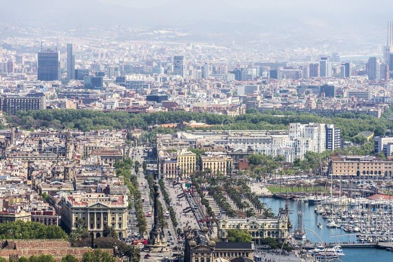 Aperçu de Barcelone, Catalogne, Espagne photos libres de droits