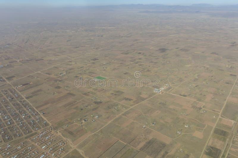 Aperçu de la ville d'El Alto, la deuxième ville de l'afte de la Bolivie image libre de droits