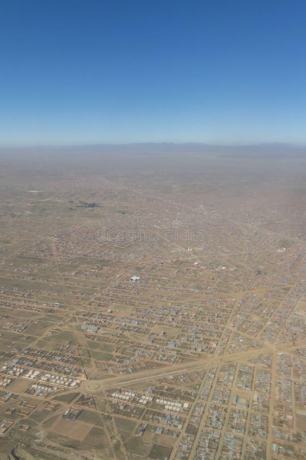 Aperçu de la ville d'El Alto, la deuxième ville de l'afte de la Bolivie image stock