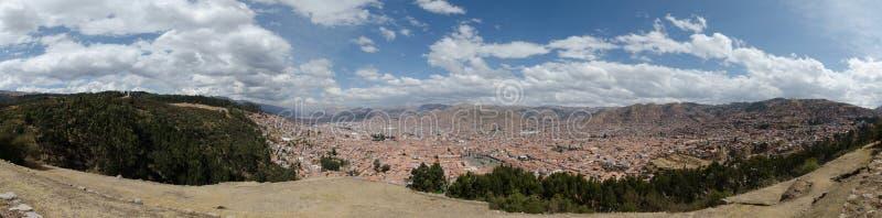 Aperçu de ville de Cuzco photo libre de droits