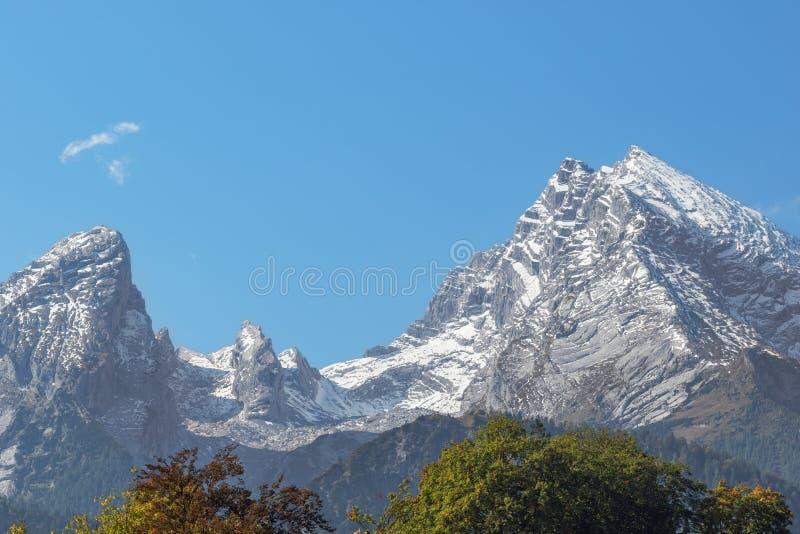 Aperçu du massif de Watzmann image stock