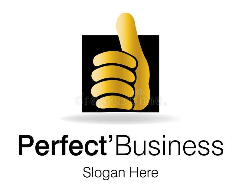 Aperfeiçoe o logotipo do negócio ilustração royalty free