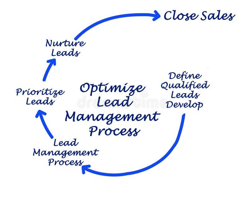 Aperfeiçoe o processo da gestão da ligação ilustração stock