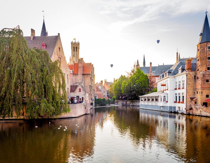 003-19 Aperitif in Bruges - panorama stock photography