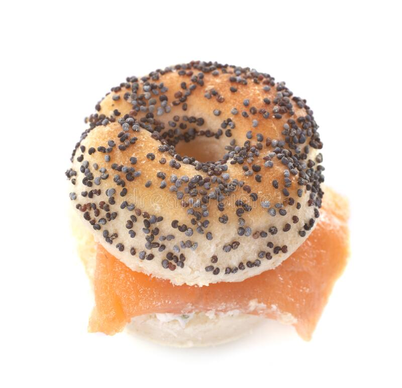 Aperitive Bagel im Studio stockbild