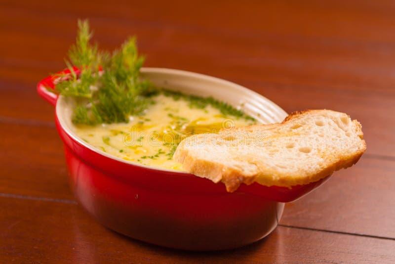 Aperitivo gourmet do fondue imagens de stock