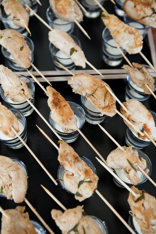 Aperitivos del pollo foto de archivo libre de regalías