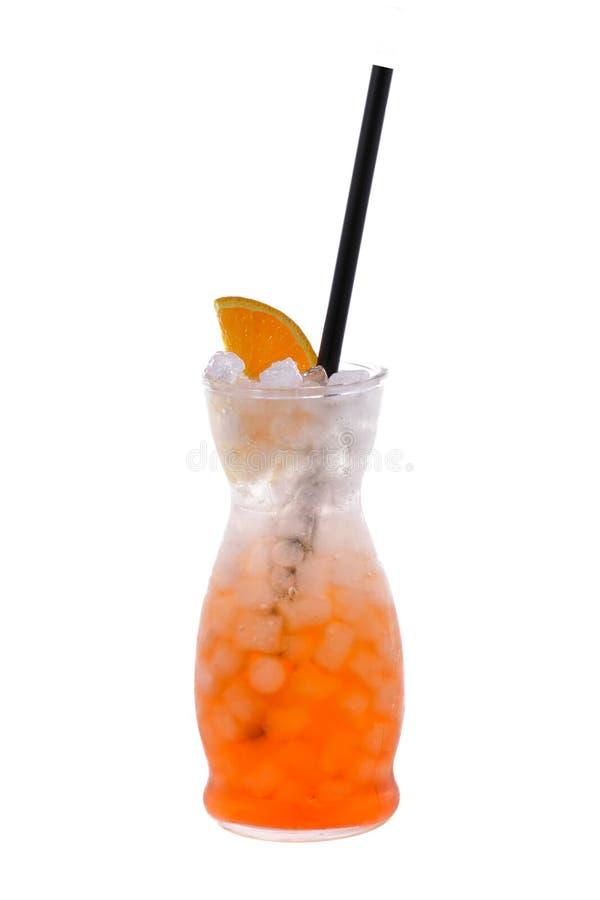 Aperol喷在被隔绝的背景的鸡尾酒 免版税图库摄影
