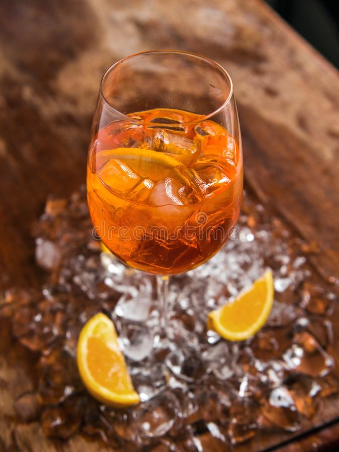Aperol spritz cocktail stock image