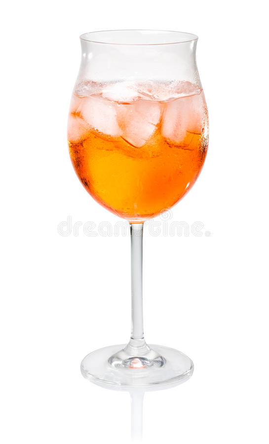Aperol Spritz. In a wine glass royalty free stock images