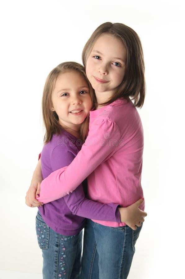 Aperto de duas irmãs fotos de stock royalty free
