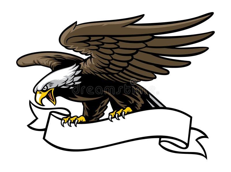 Aperto de Eagle uma fita ilustração do vetor