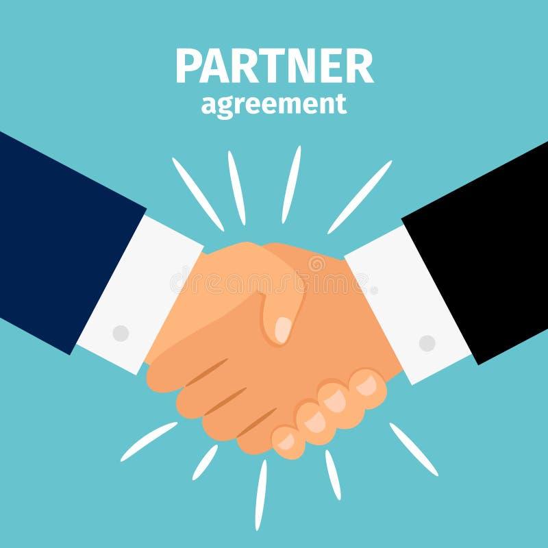 Aperto de mão da parceria do negócio ilustração do vetor