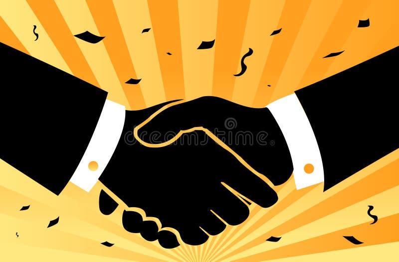 Aperto de mão das felicitações ilustração do vetor