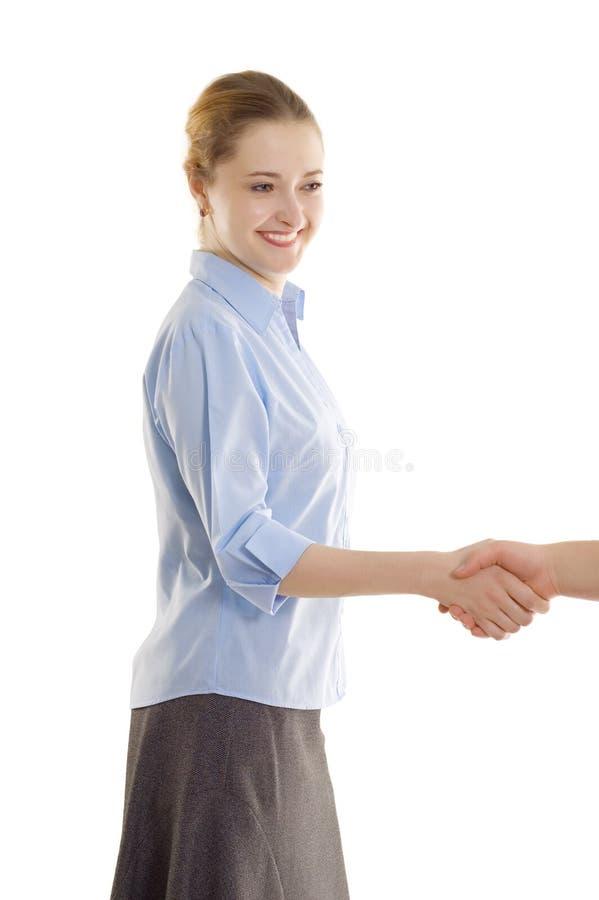 Aperto de mão das mulheres de negócios imagem de stock royalty free