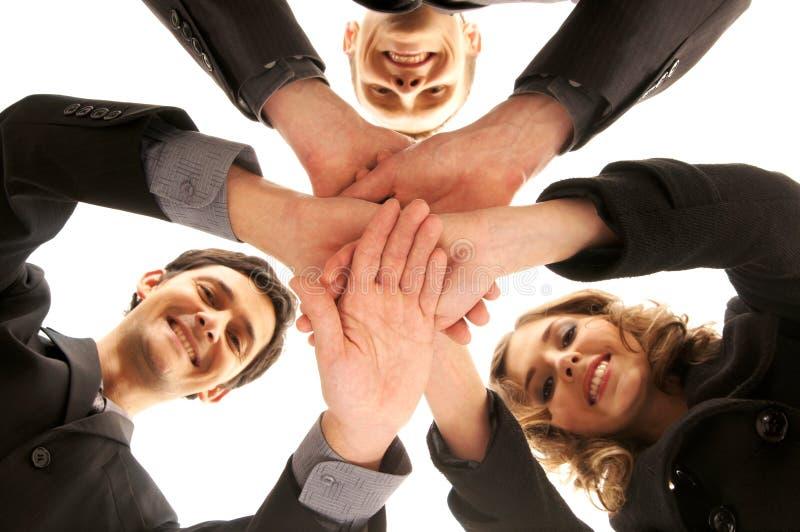 Aperto de mão do grupo com muitas mãos diferentes imagem de stock royalty free