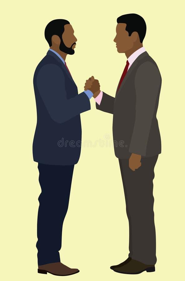 Aperto de mão do homem negro ilustração royalty free