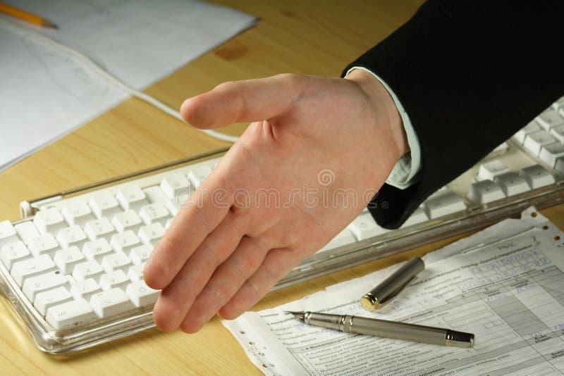 Aperto De Mão Do Negócio Fotografia De Stock