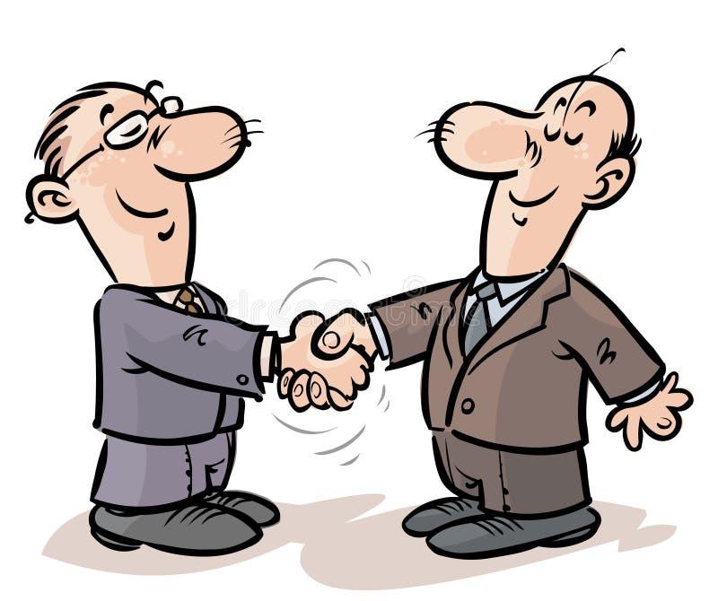 Aperto de mão dos homens de negócios. ilustração royalty free
