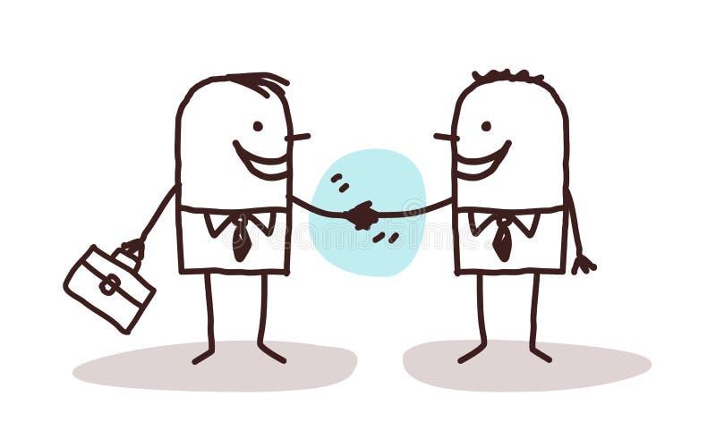 Aperto de mão dos homens de negócios ilustração stock