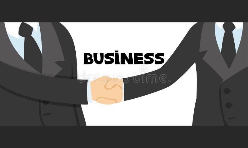 Aperto de mão entre dois homens de negócios ilustração do vetor