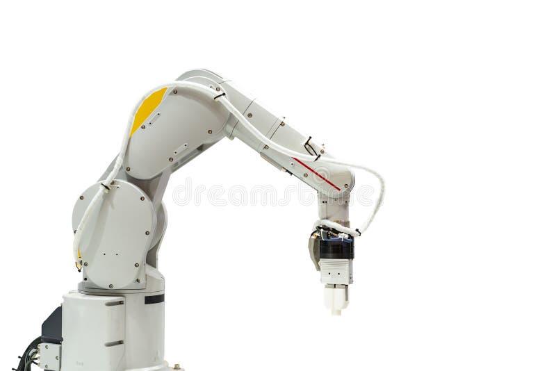Aperto do robô do de alta tecnologia & da precisão com braçadeira automática ou mandril para a peça automotivo industrial da capt foto de stock royalty free
